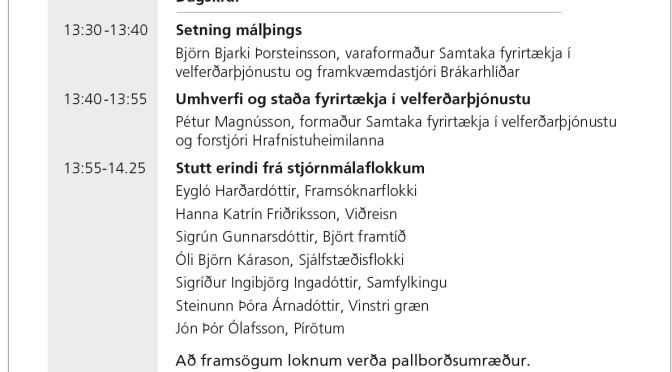 Málþing SFV 18. október